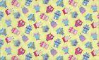 tissu patchwork petites chouettes colorées pèle-mèle 45x55cm