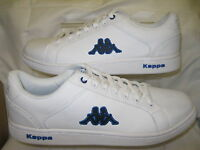 Mens Kappa White Lace Up Trainers Synthetic Uppers A251/6X043