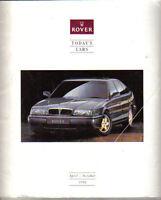 Rover Cars Mini Metro Maestro Montego 200 400 800 April-October 1992 UK Brochure