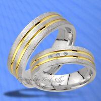 Trauringe Eheringe GOLD PLATIERT  925 Silber , J174-3