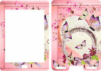 New Kindle Touch Ebook Reader Skin Cover Vinyl Sticker Pink Butterflies KT6 2012