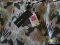 "BNWT M&S AUTOGRAPH LINED GORED SKIRT GREY MIX SIZE 22 LENGTH 27"" SELF TIE BELT"