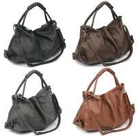 Women Fashion Hot Sale Korean Style Lady Hobo PU Leather Handbag Shoulder Bag J