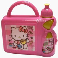 Hello Kitty Lunch Box Bag and Sports Bottle Set School