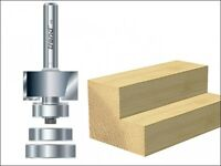 Trend 46/44 x 1/4 TCT Bearing Guided Rebater 24mm x 12.7mm
