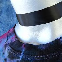 Adjustable Black Satin Ribbon Choker Necklace -- Hand Made in USA