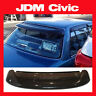 JDM 1989 Honda Civic Sedan 4 Door Rear Roof Window Visor with Stability Brackets
