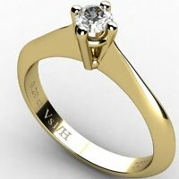 0.20 ct Diamond Vs1 H Solitaire Engagement Ring Yellow Solid Gold 18 ct carats