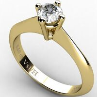 0.40ct Diamond Vs1 H Solitaire Engagement Ring Yellow Solid Gold 18 ct carats