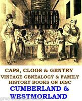 Cumberland Westmorland Cumbria Genealogy History Topo Vintage Books on Data Disc