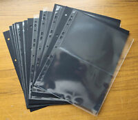 10 x 2 POCKET BANKNOTE ALBUM PAGES WITH BLACK INTERLEAVES