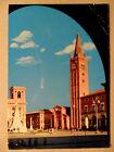 Forlì (FC).Monumento A.Saffi e Piazza con S. Mercuriale.Animata.24/08/1975