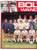 BOLTON WANDERERS 1981-1982 DOUBLE PAGE TEAM GROUP ORIG HAND SIGNED WITH 6 SIGS