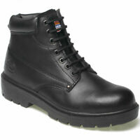 DICKIES ANTRIM SAFETY STEEL TOE CAP & MS WORK BOOTS FA23333 BLACK SIZE UK 6-12