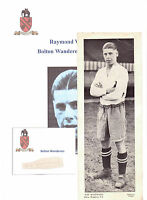 RAY WESTWOOD BOLTON WANDERERS 1930-1948 RARE ORIG HAND SIGNED CUTTING/CARD GOOD