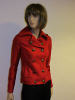 NEW LADIES SHORT JACKET -Ex New Look-  in RED COLOUR