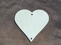 10x Wooden Heart Crafts Birthday Decoration Hanging Shape Unpaited Tag 6.5cm 1+1