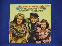 BING CROSBY i'll sing you a song of the islands LP PS EX/EX coral 1972 CPS 90