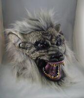 GREY WEREWOLF LATEX MASK, HALLOWEEN, FANCY DRESS, SCARY WOLF WAREWOLF DOG