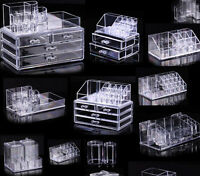 New Cosmetic organizer makeup drawers Display Box Acrylic Clear Cabinet Cases i