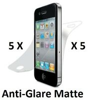 5 FRONT& 5 BACK Anti-Glare[ Matte ] Screen Protector Film Apple  IPhone 5 5S 5G
