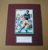 ALVIN MARTIN West Ham United HAND SIGNED Autograph Photo Mount Display + COA