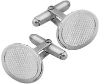 NEW ARI D NORMAN 925 STERLING SILVER OVAL CUFFLINKS GIFT BOX BIRTHDAY