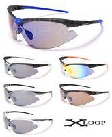 Mens X-Loop UV400 Sports Shield Wrap Baseball Golf Fishing Sunglasses- XL63