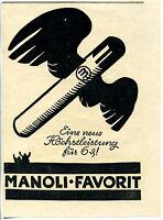 Manoli Favorit--Höchstleistung für 6 Pfenning  --Werbung-1924-