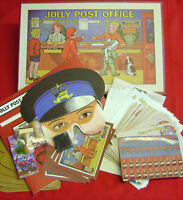 NEW JOLLY POST OFFICE PLAY SET TRADITIONAL 1950s RETRO TOY PAPER STAMPS SALE!!!