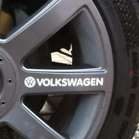 VOLKSWAGEN VW logo decal graphics stickers for alloy wheels 4 + 4 spare