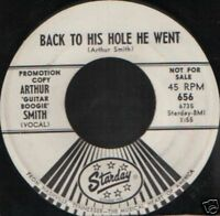 "ARTHUR SMITH back to his hole he went promo usa  7"" WS EX/"