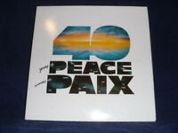 VARIOUS 40 years of peace LP PS EX/EX nato countries folk songs