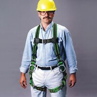 Miller DuraFlex Back & Side D-Rings Tongue Buckle Straps Fall Harness Each