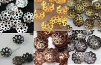 Wholesale 500pcs 6mm Silver Gold Plated Metal Flower Bead Caps Jewelry Findings