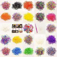 600pcs Colourful Loom Bands Rubber Twistz Bandz DIY Bracelet Refill Kit