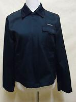 Schöne ESPRIT Jacke,  mit Baumwolle marineblau glänzend Gr. M = 40 - 42 Top !