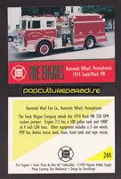 1974 SWAB / MACK MB PUMPER FIRE TRUCK ENGINE CARD Hummels Wharf, Pennsylvania