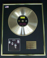 KISS / KISS CD GOLD DISC RECORD LP DISPLAY FREE P&P!