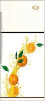 Aufkleber kühlschrank Orange dekor küche 60x90cm Ref 219