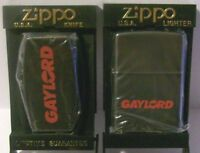 ZIPPO GAYLORD CONTAINER OHIO ADVERTISING LIGHTER & KNIFE MONEY CLIP COMBINATION