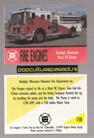 MACK MC / DARLEY PUMPER FIRE TRUCK ENGINE CARD Rudolph, Wisconsin