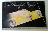 1946 THE BEAUTIFUL CHRYSLER FULL LINE SALES BROCHURE
