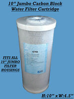 "Carbon Block 10"" Jumbo Water Filter Cartridge KOI Pond River Well Water"