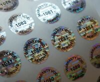 100 SMALL ROUND WARRANTY VOID SECURITY HOLOGRAM LABELS STICKERS