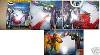 Action Wing Batman Vs. The Joker 2 Action Figures Pack Dark Knight Mattel New