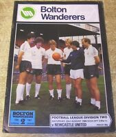 1980/81 DIVISION TWO - BOLTON WANDERERS v NEWCASTLE UNITED
