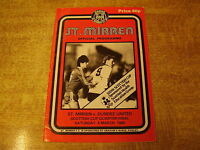 1984/85 SCOTTISH CUP 1/4 FINAL - ST MIRREN v DUNDEE UNITED