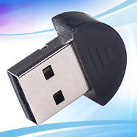 Black Mini Bluetooth V2. Dongle Wireless Adapter 100m for PC Laptop USB New