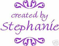 UNMOUNTED PERSONALIZED 'CREATED BY'  RUBBER STAMPS
